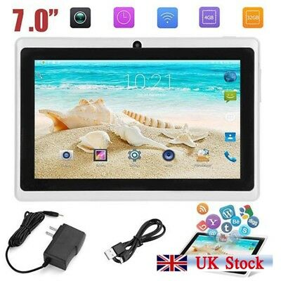 "7"" Smart Tablet PC Android 4.4 Camera Quad-core 4GB WiFi Kids Gift UK Stock"