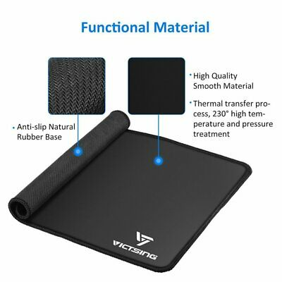 Mouse Pad /w Stitched Edges Premium-Textured Mouse Mat Pad Rubber Base US STOCK