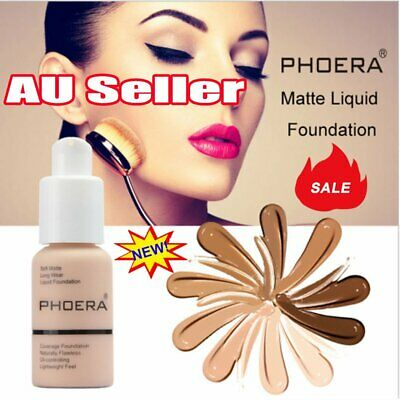 PHOERA Soft Matte Full Coverage Liquid Foundation Concealer Longlasting DM