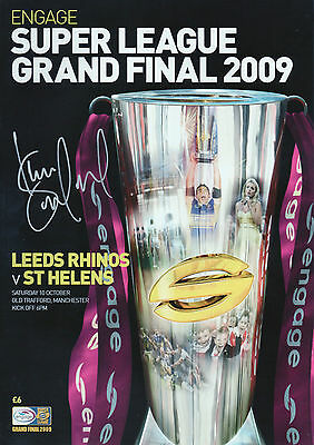 KEVIN SINFIELD In Person Signed Programme SUPER LEAGUE FINAL 2009 Proof COA
