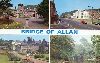 Bridge of Allan : 4 mini views inc. Allan Water, Memorial Pk,. Henderson St.