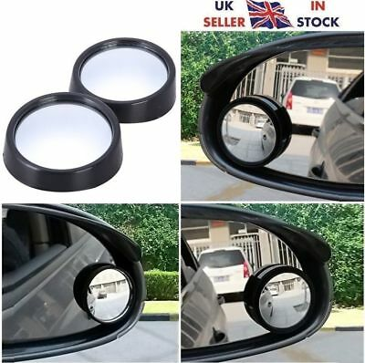 2x Convex Blind Spot Van Car Bike Wide Angled Wing Mirror Safety Accessories