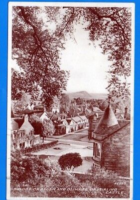 Bridge of Allan & Glimpse of Stirling Castle ( card ref : A5582) sepiatype