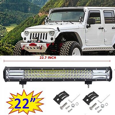 22inch LED Light Bar Spot Flood Driving Lamp Offroad 4WD 4x4 Truck JEEP SUV 23""