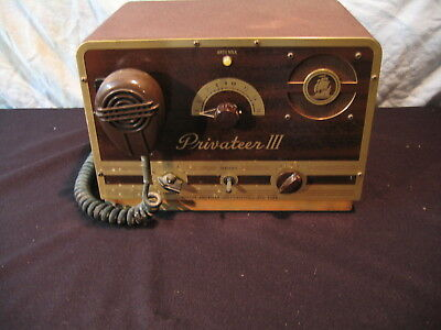 Vintage Hudson American Corp. Privateer Iii Ship To Shore Maritime Radio 6 Volt