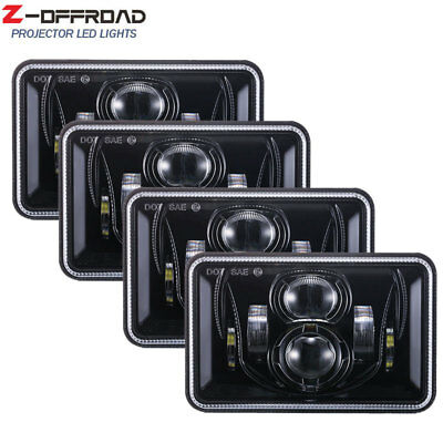 2pairs 4x6inch LED Truck Headlights Headlamps for Feightliner fld 120 112 Lights