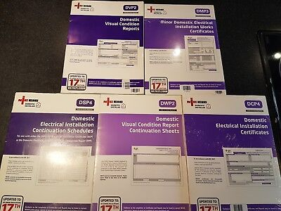 Job Lot  Electrical Test Certificate Minor Work Condition Report Book