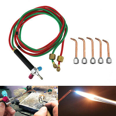 Jewelers Micro Mini Gas Little Torch Welding Soldering Kit & 5 Flashlight Tips