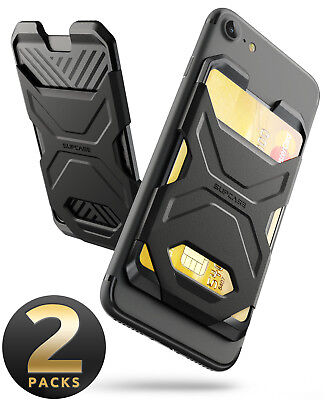 SUPCASE Adhesive Slim Wallet, Credit Card Holder Sticker Cell Phone Wallet Case