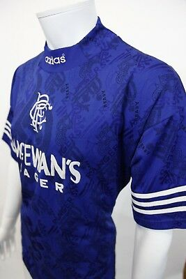 Genuine Adidas Glasgow Rangers Home Vintage 1994 Football Top Sz 38-40