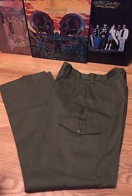 Vintage BSA Boy Scout Of America Talon Zipper Office Uniform Pants. Size 31