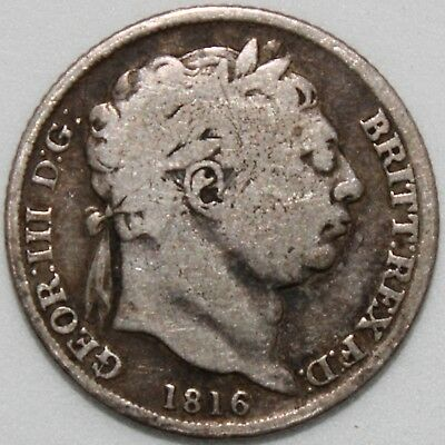 1816 | George III Sixpence | Silver | Coins | KM Coins