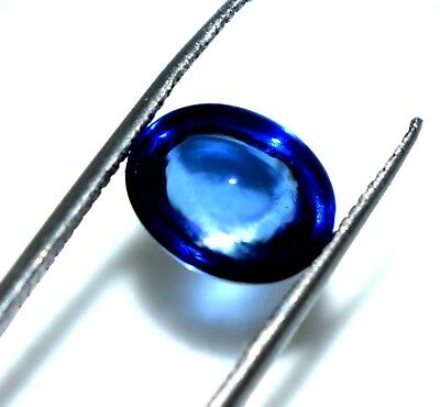 Ggl Certified  4.10  Ct Oval Shape Cabochon  Natural Blue Sapphire X Mas Gems