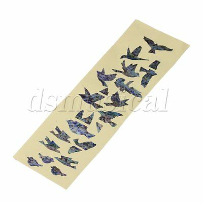 Multicolor Birds Sticker Inlay Sticker Decal for Guitar Bass