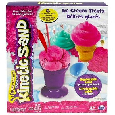 Kinetic Sand Ice Cream Treats - Arena cinética  Rosa, Chica