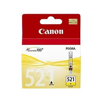 Canon Cli-521 Yellow Ink Cartridge Nuevo