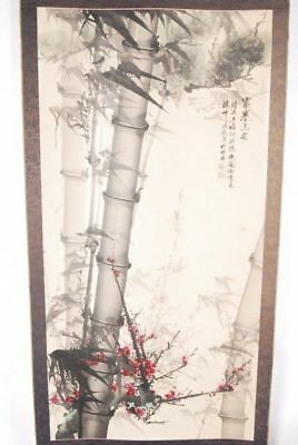 CHINESE PAINTING HANGING SCROLL CHINA ANTIQUE VINTAGE OLD PICTURE BAMBOO 281i
