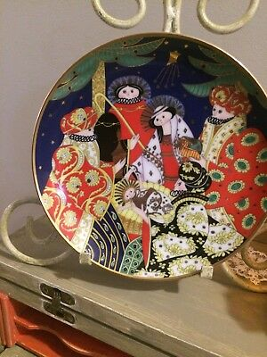 House of Faberge THE NATIVITY, Limited Edition 1991, Porcelain Plate