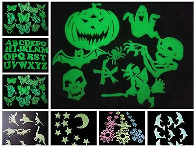 Glow In The Dark Decorations Wall Stickers Removable Kids Room Various Style