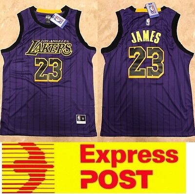 reputable site 19749 ab821 LA LAKERS #23 Lebron James City edition jersey, Mel Stock, Express Post!