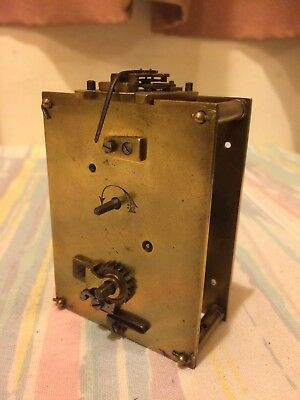 Antique French 8 Day Carriage Clock Movement, Movement Cylinder Balance Good.