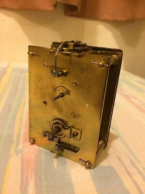 Antique French 8 Day Carriage Clock Movement, Movement Cylinder Balance Good. (2