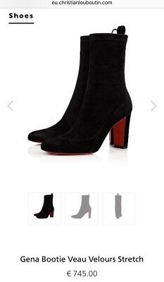 75693f3de29 NEW Christian Louboutin Gena Bootie Veau Velours Stretch Boots Sz 5.5 or  35.5