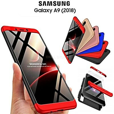 COVER per Samsung Galaxy A9 2018 CUSTODIA Fronte Retro 360° ORIGINALE ARMOR CASE