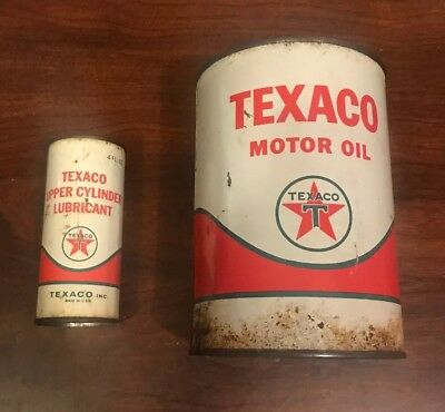 Vintage Texaco Oil Can And Vintage Texaco Upper Cylinder Lubricant