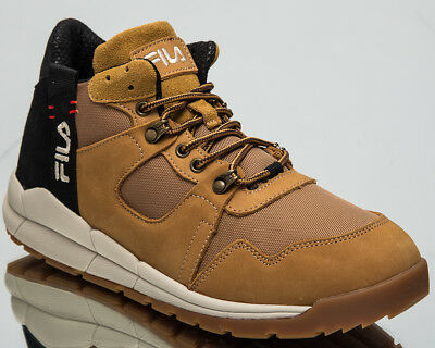 8b6059364ea4 Fila Norton Mid Top Men s New Lifestyle Shoes Chipmunk 2018 Sneakers  1010498-EDU
