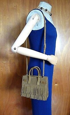 New Yves Saint Laurent Baby Sac De Jour Suede Leather Tote Satchel  crossbody bag c92445dfafde8
