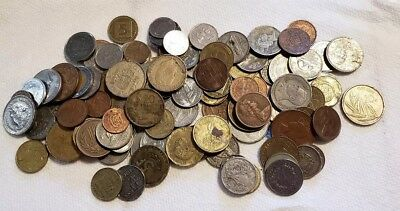 Mixed World Foreign Coins Almost A Pound #68