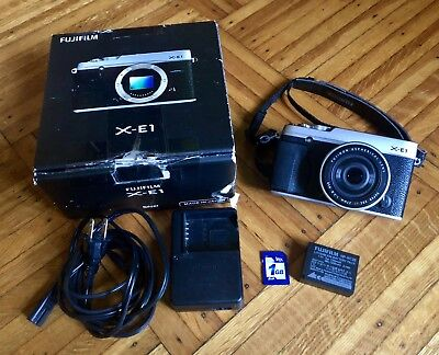 Fujifilm X Series X-E1 16.3MP Digital SLR Camera - Silver (Body + 27mm Lens)