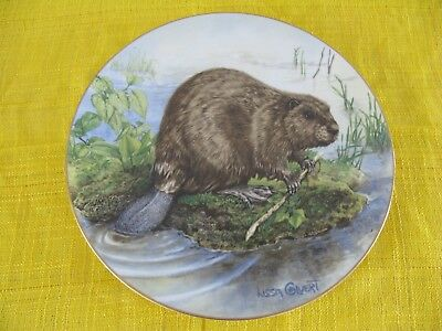 Vintage Large Plate The Beaver First Edition Numbered 443 Goebel Germany