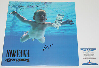 NIRVANA KRIST NOVOSELIC SIGNED NEVERMIND ALBUM VINYL RECORD LP w/COA PROOF BAND