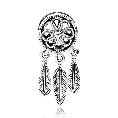 Authentic Gift 925 Sterling Suits Pandora Charm Spiritual Dream Catcher Dangle