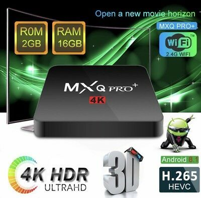 MXQ PRO PLUS 2GB 16GB Android 8.1 TV Box Amlogic S905W Quad Core 4K IPTV Media