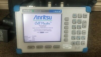 Anritsu MT8212B Cell Master Many Options Tested Good!