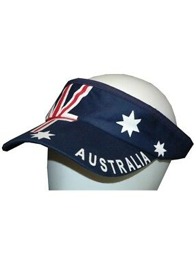 Australia Day Navy Blue Visor Cap Genuine Axiz - New