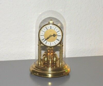 KERN 400 day anniversary glass dome clock. Germany. Brass. Working order