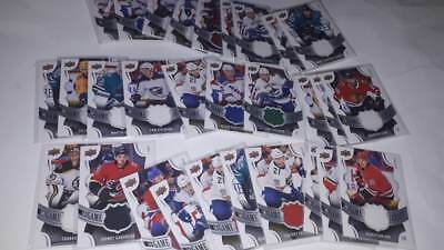 2018-19 UD Upper Deck Series 1 Game Jersey Relics UPick from List Lot