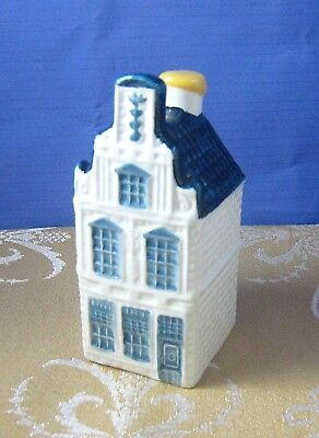 BOLS KLM BLUE DELFT MINIATURE HOUSE DECANTER #24 Sealed Holland Amsterdam