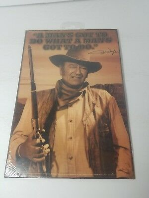 QUOTE POSTER 12x36-12159 JOHN WAYNE MAN/'S GOTTA DO