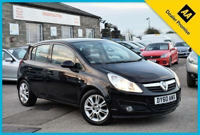 2010 (60) Vauxhall Corsa 1.4 Se Black 5 Door Hatchback Petrol Manual