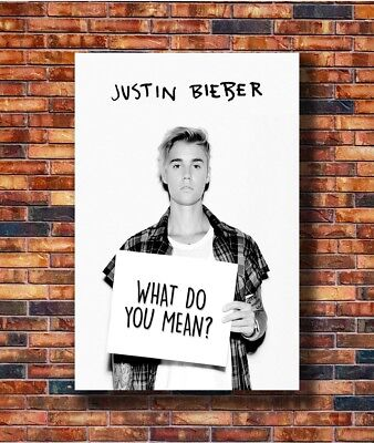 Famous Music Singer Star Justin Bieber Cover Poster Fabric 12 20x30 24x36 E-2817