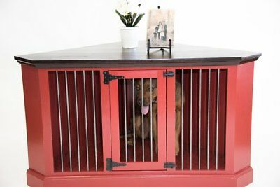 Pet Crate Dogs Credenza Table Indoor Doghouse Solid Wood Furniture 58 L X
