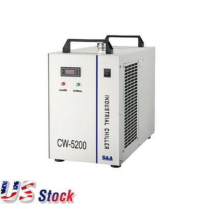 US Stock CW-5200DG Water Chiller for 130W/150W CO2 Laser Engraving Machine 110V