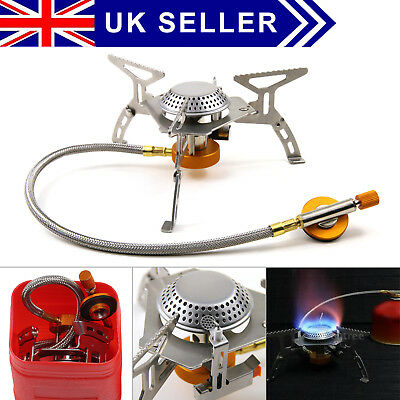 3500W Portable Outdoor Camping Hiking Gas Stove Folding Cooking Burner + BOX