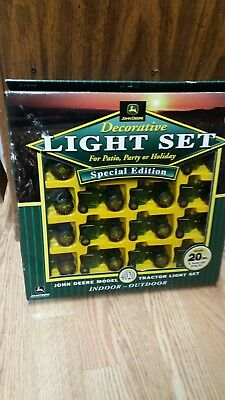 John Deere Tractor 4020- Patio, Party Holiday Light Set 20 PC Special Edition