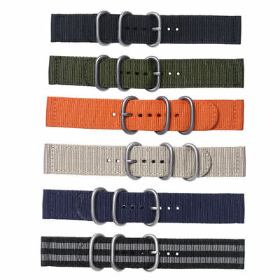 Fabric Woven Nylon Watch Strap Band Buckle Replacement Belt 18 20 22 24mm